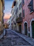 Brescia solnedgång fotografering för bildbyråer