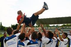 Brescia - SYFA bajo juego de fútbol 17 Imagenes de archivo