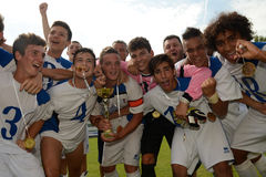 Brescia - SYFA under 17 soccer game Royalty Free Stock Images