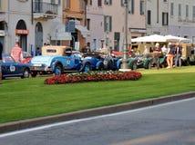 Brescia - tappningbilar i rad för de 1000 mil Fotografering för Bildbyråer