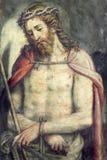 BRESCIA, WŁOCHY, 2016: Fresk Ecce homo w kościelnym Chiesa Di San Alessandro Zdjęcie Royalty Free
