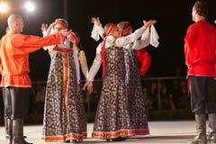 Brescia, Włochy 28 Maj, 2016 14th festiwal ludowy taniec, rosjanów tanowie, grupa Obrazy Stock