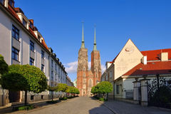 Breslau the cathedral. In the city royalty free stock photos