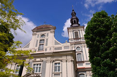 Breslau gammal St-Klara-kyrka Royaltyfri Bild