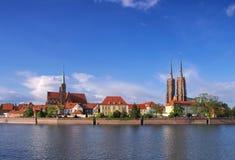 Breslau a ilha da catedral Imagem de Stock