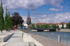 Breslau katedra i deptak Fotografia Stock