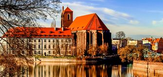 Breslau-Kirche Stockfotografie