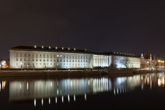 Breslau am Nacht-Urzad-wojewodzki Lizenzfreie Stockfotos
