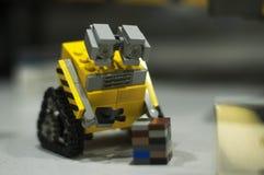 Breslau, POLEN - 25. Januar 2014: Wand - e gemacht durch Lego-Blöcke Lizenzfreie Stockfotos