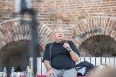 Breslau, Polen, am 28. Juni 2014 Andrzej Sapkowsk, Authot von Lizenzfreies Stockbild