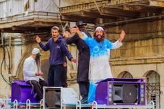 Breslov Hasidic Jews dance Royalty Free Stock Photo