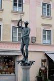 Bressanone, статуя в старом городке Стоковые Фото