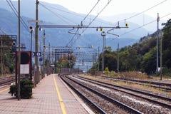 Bressanone-/Brixenbahnstation Lizenzfreie Stockfotos