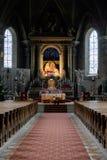 Bressanone kyrkan av St Michael ärkeängeln fotografering för bildbyråer