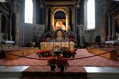 Bressanone, la chiesa di St Michael l'arcangelo Fotografia Stock Libera da Diritti