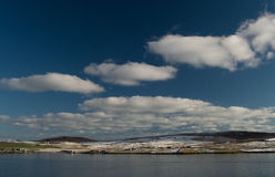 Bressay ö, en av de Shetland öarna Arkivfoto