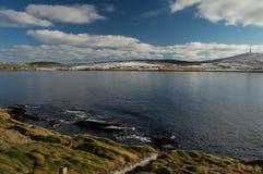 Bressay ö, en av de Shetland öarna Arkivfoton