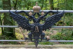 Brest, Λευκορωσία - 30 Ιουλίου 2018: Γέφυρες του βασιλικού δρόμου, Belovezhskaya Pushcha Κύρια έλξη του διάσημου κομματιού Βασιλε στοκ εικόνες