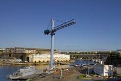 Brest: Ansicht des Hafens stockfoto