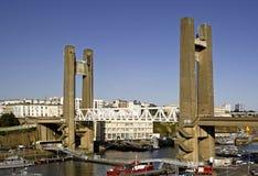 Brest: Ansicht von Recouvrance Drawbridge stockfotografie