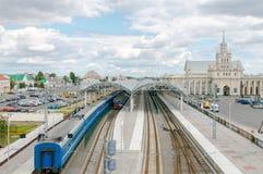 Brest-Bahnhof West-Weißrussland Stockbild