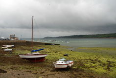 Brest bay, Brittany, France. Small port  Le Fret in Brest bay in Brittany,France Stock Photo