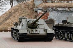 Free BREST, BELARUS - APRIL 5, 2018: SU-100 Heavy Self-propelled Artillery In The Museum Stock Photos - 158356693