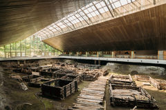 Brest, Belarus. Archaeological Monument Of East Slavic Wooden Town Of 13th Century Berestye Archeological Museum. Royalty Free Stock Photography