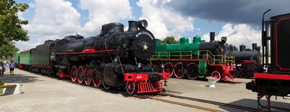 Museum of steam locomotives in Brest. Belarus Royalty Free Stock Photo