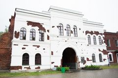 Free BREST, BELARUS - SEPTEMBER 4, 2015: The Kholm Gate Gates Of The Brest Fortress In Rainy Day Royalty Free Stock Photo - 133712385