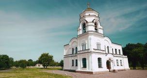 Brest, Belarus Tour de Bell de beffroi de Garrison Cathedral St Nicholas Church dans la forteresse complexe commémorative de héro banque de vidéos