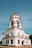 Brest, Bielorrusia Campanario del campanario de Garrison Cathedral St Nicholas Church en Brest compleja conmemorativa Foto de archivo