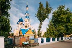 Brest, Bielorrusia Día del St Nicholas Cathedral In Sunny Summer señal foto de archivo libre de regalías
