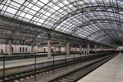 Brest, Bielorrusia, el 6 de marzo de 2019: Ferrocarril en Brest foto de archivo