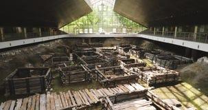 Brest, Bielorussia Monumento archeologico della città di legno dello slavo orientale autentico del XIII secolo in Berestye archeo stock footage