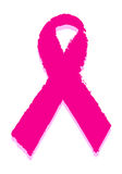 Brest cancer. Awarness ribbon on isolated background Royalty Free Stock Photo