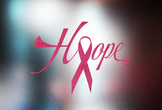 Brest cancer pink ribbon concept image Royalty Free Stock Photos