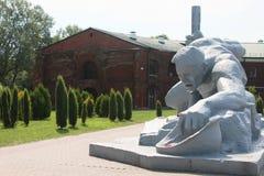 Brest fästning, törstad skulptur, Vitryssland royaltyfri fotografi