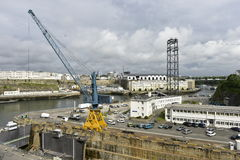 Brest flod Penfeld, Frankrike Royaltyfri Bild