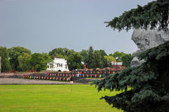Brest Fortress. Ceremonial Square, Kholm Gate, main monument. Royalty Free Stock Photography