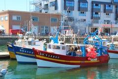 BREST, FRANCIA - 18 DE JULIO: Barcos rastreadores en el puerto de Brest, el 18 de julio de 2016 Fotografía de archivo