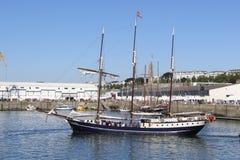 BREST, FRANKREICH - 18. JULI: das topsail Regina Maris während der Seefestivals Brest 2016, am 18. Juli 2016 Lizenzfreie Stockfotos