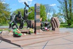 BREST - Monument aan de gevallen verdedigers van de Vesting van Brest Royalty-vrije Stock Foto