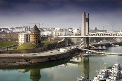 Brest: Olika les för ½ för arkitekturstï¿ från olika åldrar i Brest, Frankrike Royaltyfria Bilder