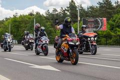 Brest roweru festiwalu zawody mi?dzynarodowi 2019 fotografia stock