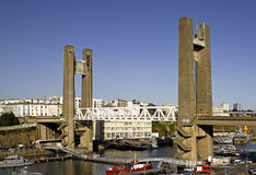 Brest: view of Recouvrance drawbridge stock photography