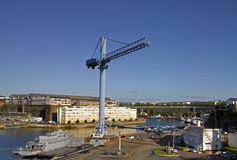 Brest : vue du port Photo stock