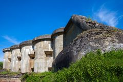 Brest, Weißrussland - 12. Mai 2015: Das fünfte Fort von Brest-Festung Stockfoto