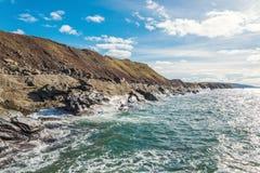 Bretón del cabo de la orilla del océano, Nova Scotia, Canadá Fotos de archivo libres de regalías