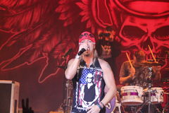 Bret Michaels at Tarrytown Music Hall. Bret Michaels at the Tarrytown Music Hallin Tarrytown NY on April 13,2011 Stock Image